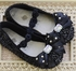 Coastal Projections Black Sequin Flats with Bow (Size 7) Alternate View