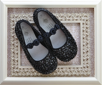 Coastal Projections Black Sequin Girls Shoe (0i,1i,2i)