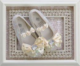 Coastal Projections Girls Ivory Sequin Shoes (0Infant & 1Infant)