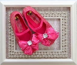 Coastal Projections Hot Pink Girls Sequin Shoe