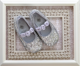 Coastal Projections Silver Sequin Flats (Size 0 Infant)