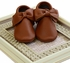 Coral Pear Shoes Brown Baby Moccasins with Bow (Size 0/3Mos) Alternate View #2