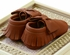 Coral Pear Shoes Brown Baby Moccasins with Bow (Size 0/3Mos) Alternate View #4