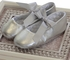 Designer's Touch Girls Leather Ballet Slippers in Silver (1Infant) Alternate View