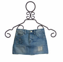 Dex Denim Skirt with Patches (Size 12)