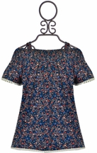 Dex Navy Top Daisy Print (MD 10/12 & LG 14)