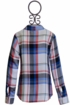 Dex Plaid Top with Patches (LG 14 & XL 16) Alternate View
