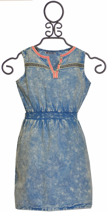 Dex Retro Acid Wash Dress