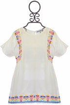 Dex Tween Embroidered Top Ivory (MD 10,LG 10/12,XL 12/14)