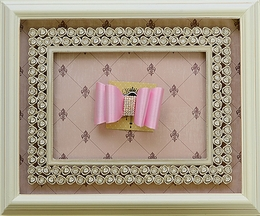 DollBaby Bow Barrette in Light Pink