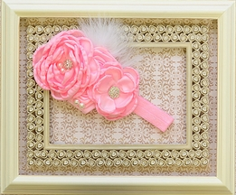 DollBaby Chiffon Flower Headband in Pink