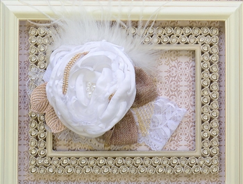 DollBaby Floral Lace Headband White