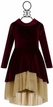 DollBaby Girls Holiday Dress Crimson (Size 2)