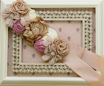 DollBaby Like a Garden Taupe Sash
