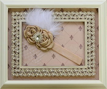DollBaby Rosette Headband with Feathers