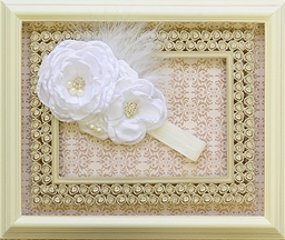 DollBaby White Girls Couture Headband