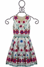 Elisa B Garden Party Dress (Size 10)
