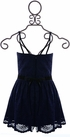 Elisa B Lace Romper Navy (Size 12) Alternate View