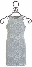 Elisa B Silver Tween Dress (Size 10)