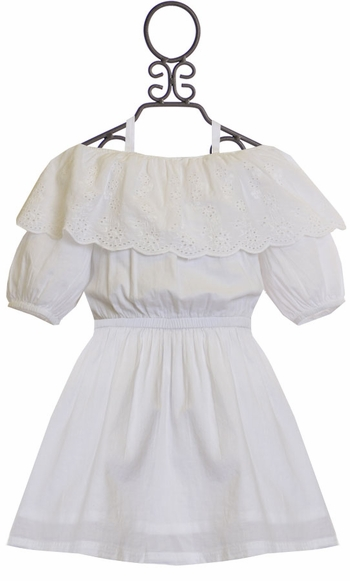 Ella Moss White Dress Off the Shoulder (10 & 12)