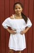 Ella Moss White Dress Off the Shoulder (10 & 12) Alternate View #2