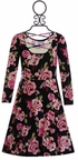 Five Loaves Two Fish Floral Dress in Black (Size 4) Alternate View