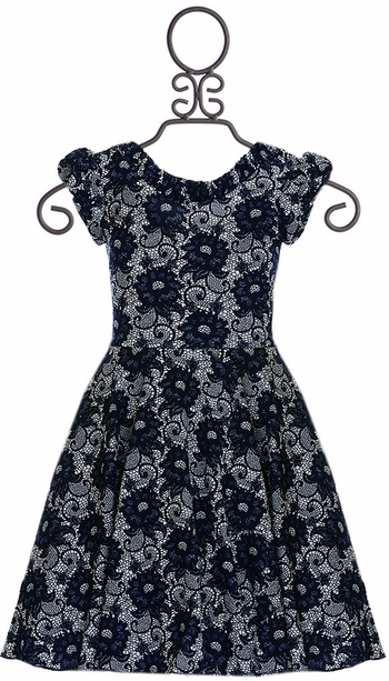 Five Loaves Two Fish Navy Dress (Size 4)