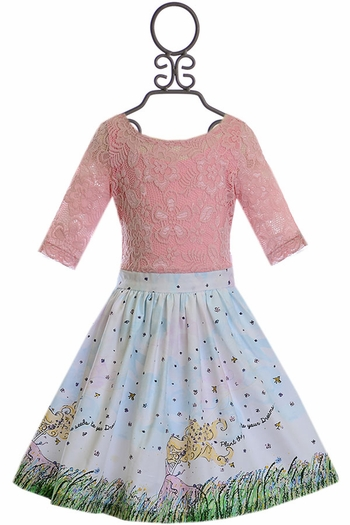 Five Loaves Two Fish Spring Dress for Girls (Size 10)