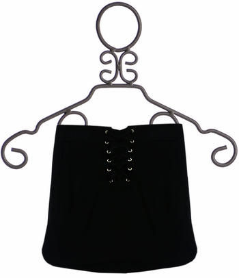 Flowers By Zoe Black Lace Up Skirt (SM 7/8 & MD 10)