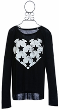 Flowers by Zoe Heart Top with Stars (Size LG 10/12)