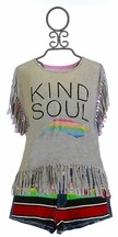 Flowers by Zoe Kind Soul Top with Denim Shorts (Size 4)