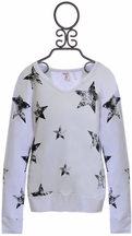 Flowers By Zoe Lace Up Sweatshirt Stars (MD 10 & LG 10/12)