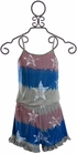 Flowers By Zoe Patriotic Romper (Size  XL 12/14) Alternate View