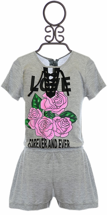 Flowers By Zoe Romper with Roses (LG 10/12 & XL 12/14)