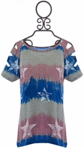 Flowers By Zoe Stars Top Tie Dye (Size SM 7/8)