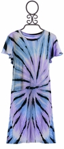 Flowers By Zoe Tie Dye Dress in Lilac (LG 10/12 & XL 12/14)