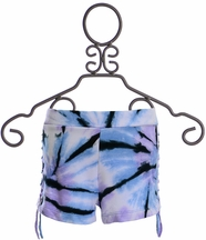 Flowers By Zoe Tie Dye Shorts Lilac (Size SM 7/8)