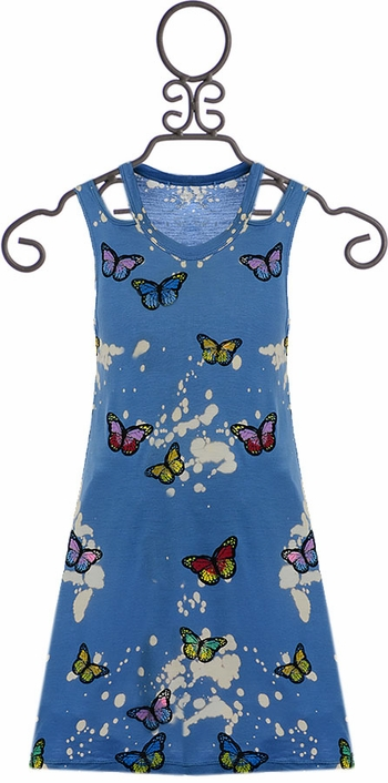 Flowers By Zoe Tween Dress with Butterflies (Size XL 12/14)