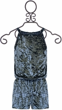 Flowers by Zoe Velvet Romper (Size XL 12/14)