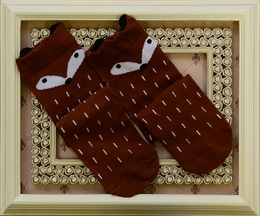 Fox Socks Knee High Brown