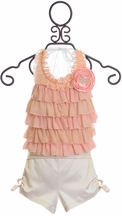 Frilly Frocks Camilla Ruffle Halter and Shorts (Size 5)