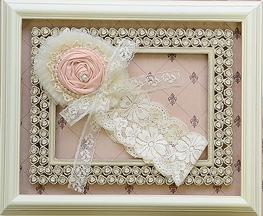 Frilly Frocks Ivory Lace Headband (Size Girl)