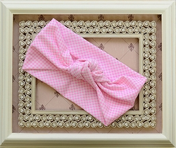 Frou Frou Girls Headband in Pink Gingham (Size Infant)