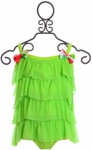 Frou Frou Girls One Piece Swimsuit in Green
