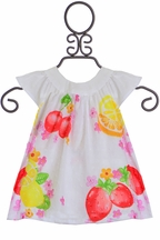 Fruit Punch Infant Designer Dress (0-1MOS,1-2MOS,4-6MOS)