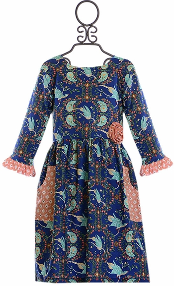 Giggle Moon Brilliant Sapphire Phoebe Dress (Size 12Mos)