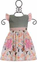 Giggle Moon Butterflies Pocket Dress (Size 7)