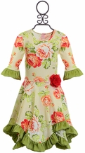 Giggle Moon Hanky Dress with Roses (Size 12Mos)