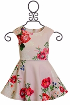 Hannah Banana Floral Girls Dress Pink (4 & 8)