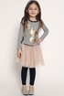 Hannah Banana Girls Top with Sequin Deer SOLD OUT Alternate View